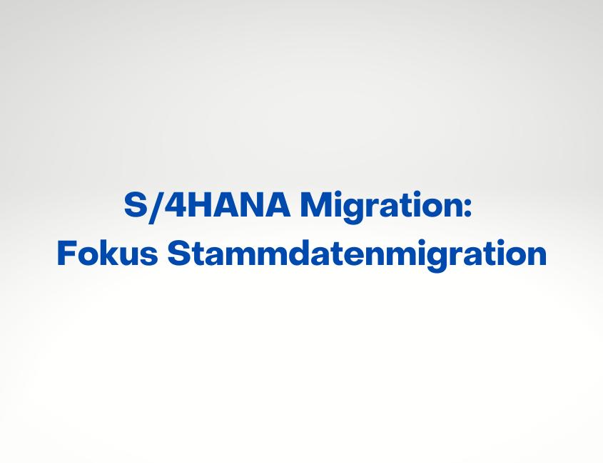 Trendstudie SAP S/3HANA-Migration