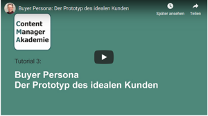 content manager akademie buyer persona