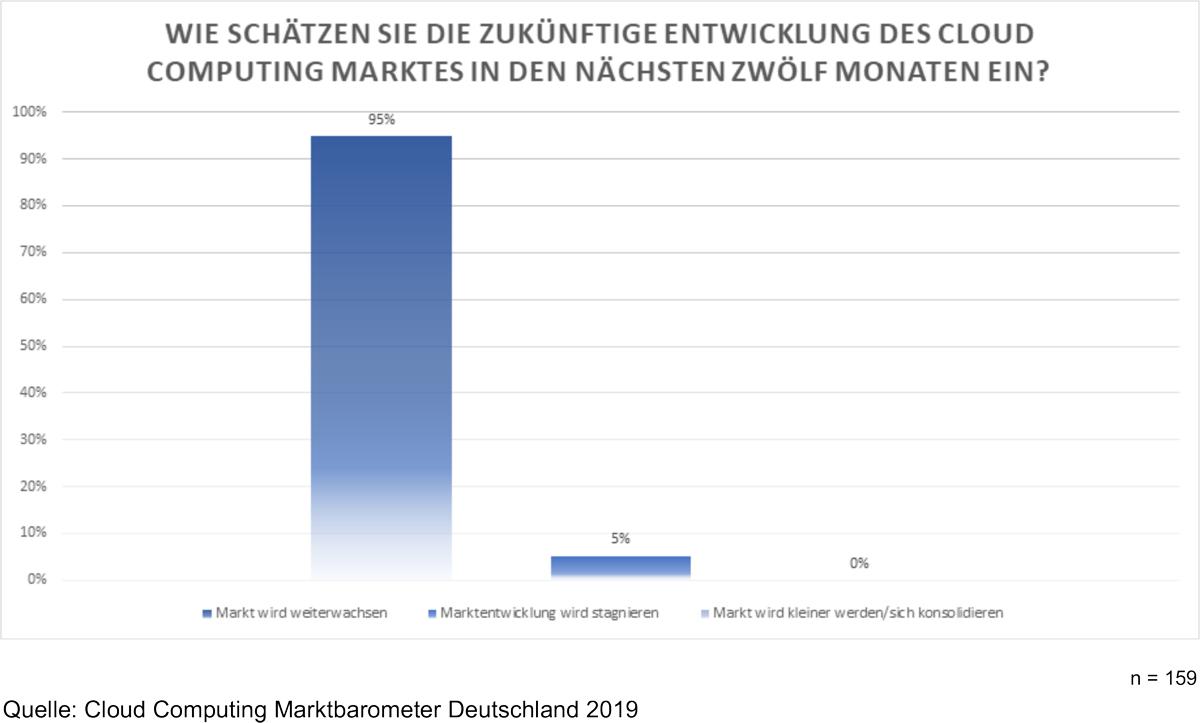 Cloud Computing Marktbarometer Deutschland 2019 Prognose