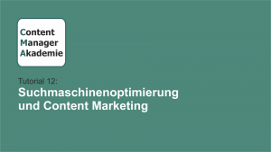 Content Manager Akademie Tutorial 12
