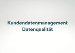 Trendstudien zum Thema Kundendatenmanagement und Datenqualität