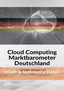 Cloud Computing Marktbarometer 2020 - Daten und Fakten